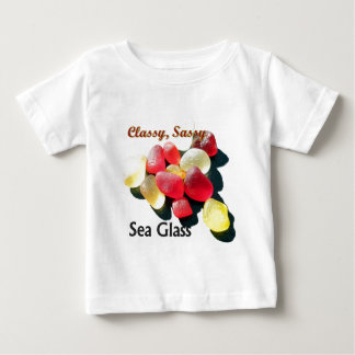 Sassy Classy Sea Glass - Red and yellow Baby T-Shirt