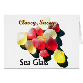 Sassy Classy Sea Glass - Red and yellow Cards