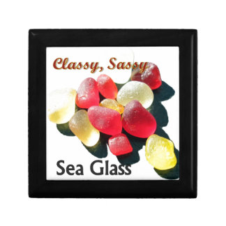 Sassy Classy Sea Glass - Red and yellow Trinket Boxes