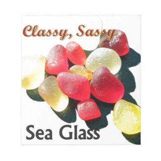 Sassy Classy Sea Glass - Red and yellow Note Pad