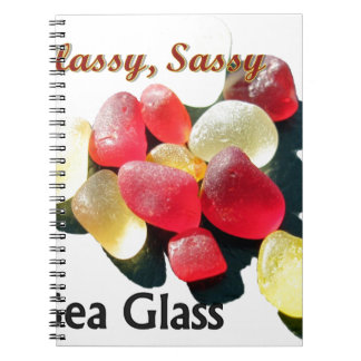 Sassy Classy Sea Glass - Red and yellow Spiral Notebooks