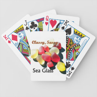 Sassy Classy Sea Glass - Red and yellow Deck Of Cards