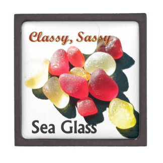Sassy Classy Sea Glass - Red and yellow Premium Gift Boxes