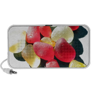 Sassy Classy Sea Glass - Red and yellow iPhone Speakers