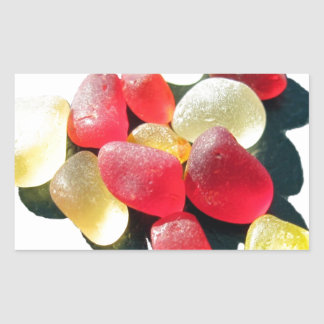 Sassy Classy Sea Glass - Red and yellow Stickers