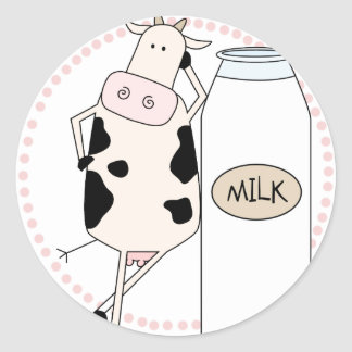 Sassy Cow with Milk Stickers