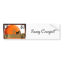 Sassy Cowgirl Bumper Sticker