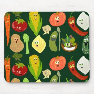 Sassy Cute Veggies! Mouse Pad