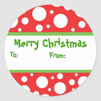 Sassy Dots Christmas Gift Sticker