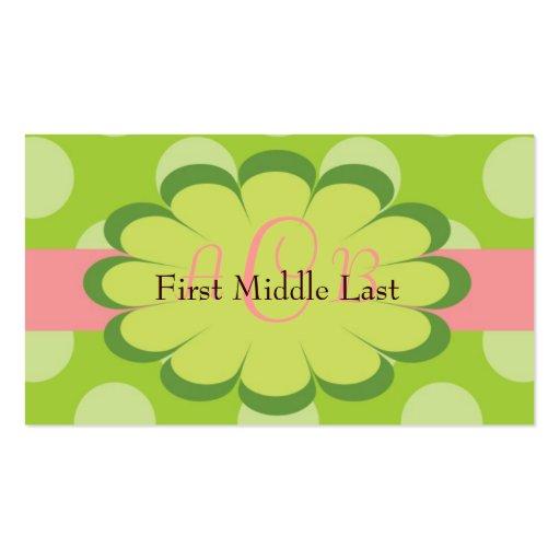 Sassy dots personalized gift enclosure card business card for Personalized gift cards for businesses