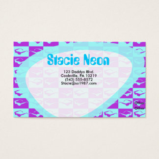 Sassy Eighties Checks Business Card