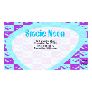Sassy Eighties Checks Double-Sided Standard Business Cards (Pack Of 100)