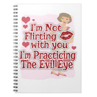 Sassy Evil Eye 50s Housewife Spiral Notebook