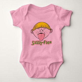 Sassy Face Boy Baby Bodysuit