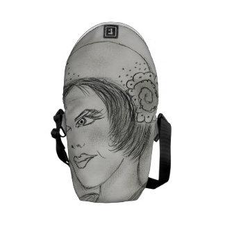 Sassy Flapper Messenger Bag