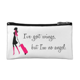 Sassy Flight Attendant Zipper Pouch Cosmetic Bag