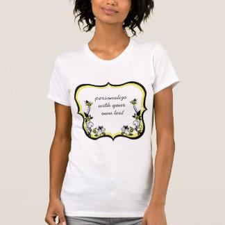 Sassy Floral Frame Women's Tee, Light Yellow