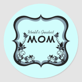 Sassy Floral World's Greatest Mom Stickers