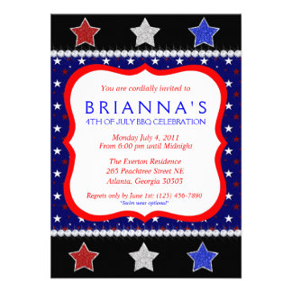 Sassy Fourth of July Invite