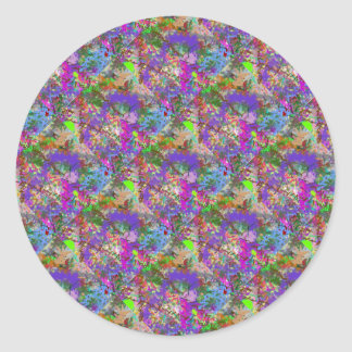 Sassy Fun Color Maze Sissy Girl Camo Colorful Girl Classic Round Sticker