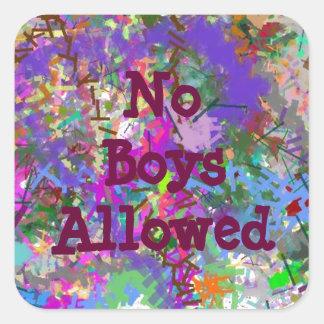 Sassy Fun Color Maze Sissy Girl Camo Colorful Girl Square Sticker