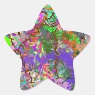 Sassy Fun Color Maze Sissy Girl Camo Colorful Girl Star Sticker