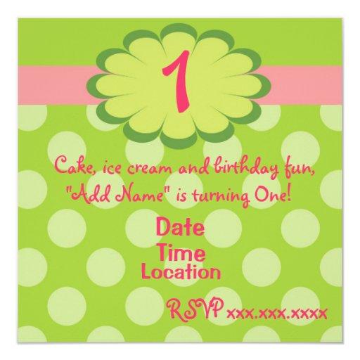Sassy Girl Birthday Invitation
