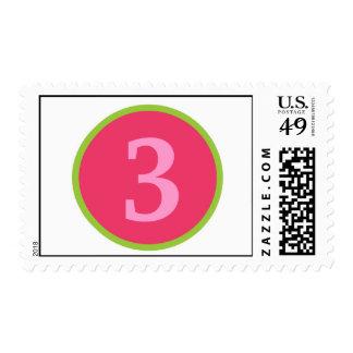 Sassy Girl Personalized Birthday Stamp