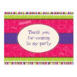 Sassy Girl Thank You Postcard