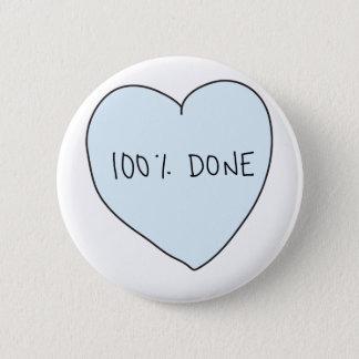 Sassy Heart: 100% Done Button