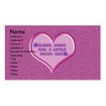 Sassy Heart Double-Sided Standard Business Cards (Pack Of 100)