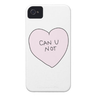 Sassy Heart Can U Not iPhone 4 Case-Mate Cases