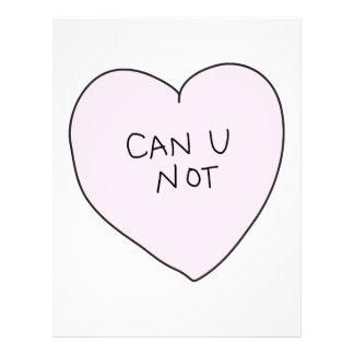 Sassy Heart: Can U Not Letterhead