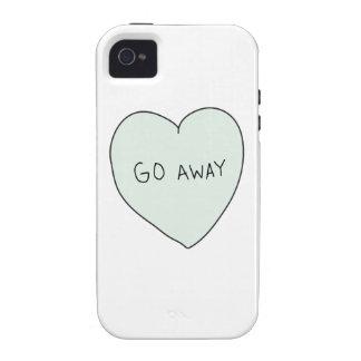 Sassy Heart: Go Away iPhone 4/4S Case