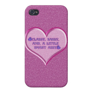 Sassy Heart iPhone 4 Cases