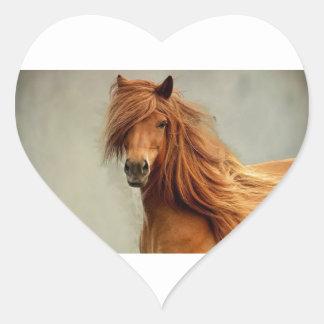 Sassy Horse Heart Sticker