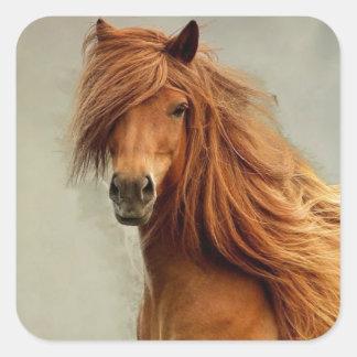 Sassy Horse Square Sticker