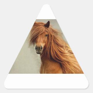 Sassy Horse Triangle Sticker