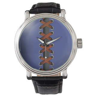 Sassy Lace Up (blue russet) Wristwatches