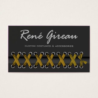 Sassy Lace Up Costume Designer Business Card