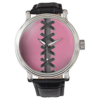 Sassy Lace Up (pink black) Wrist Watch
