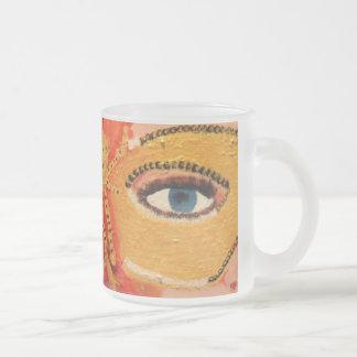 SASSY LADY 10 OZ FROSTED GLASS COFFEE MUG