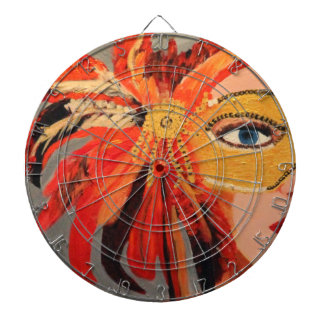 SASSY LADY DARTBOARD WITH DARTS