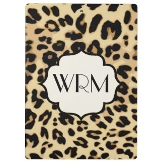 Sassy Leopard Print Monogrammed Clipboards