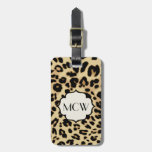 Sassy Leopard Print Monogrammed Tags For Bags