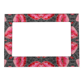 Sassy Lips Abstract Magnetic Photo Frame