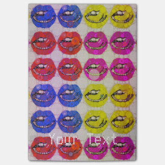 Sassy Lips Abstract Post it Notepads Post-it® Notes