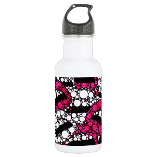 Sassy lips bling abstract water bottle