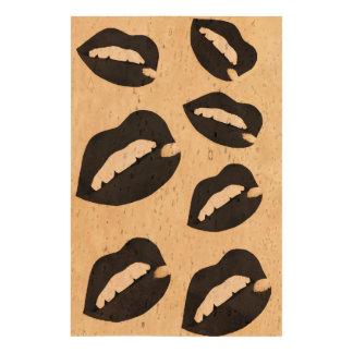 Sassy Lips Grunge Queork Photo Print