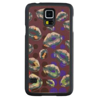 Sassy Lips POP Art Carved Maple Galaxy S5 Case